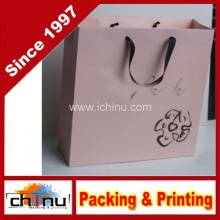 Saco de papel da arte / saco de papel branco / saco de papel do presente (2216)