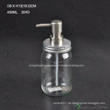 Ökonomische Glasbad-Flüssigkeitsflasche mit Pumpspritze