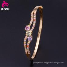La última joyería atractiva del brazalete de la joyería de la manera del diseño Brazalete cristalino de la CZ de la joyería