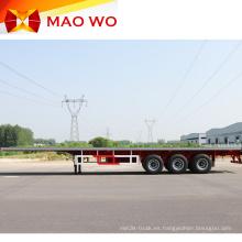 Semirremolque contenedor de plataforma plana profesional de 40 pies