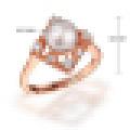 Naturel Parfaitement Ronde Perles D'eau Douce Rétro Carré Anneaux S925 En Argent Sterling pour Femmes Engagement Fine Jewelry