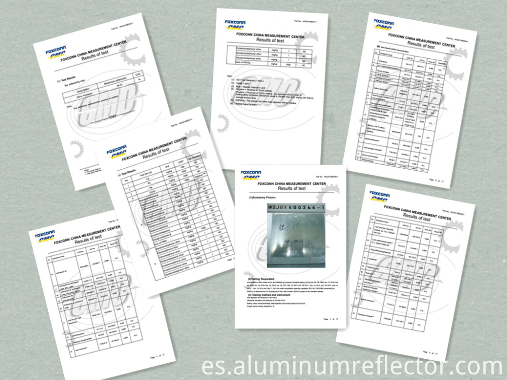 aluminum rolls test report