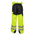 calças de alta visibilidade calças de trabalho de segurança reflexiva