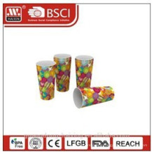 Popular plastic in-mould labeling cup with full printing 24OZ/0.68L 3 pcs
