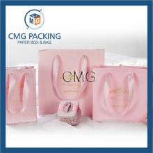 Large Medium Small Pink Set Paper Packing Bag (DM-GPBB-065)