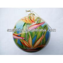 Ornement à la boule de Noël en verre peint à la main