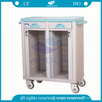AG-CHT003 medical instrument hospital patient record ABS case history cart