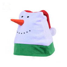 Xmas Hat Decoration Printing Logo Santa Hat Felt Non-woven Christmas Santa Claus Xmas Hat for kid adult