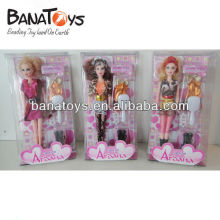 3 design 11 inch dolls toy doll with clothes