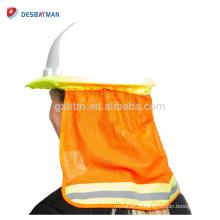 100% Polyester Mesh Fluo Jaune Orange 2 tons haute visibilité nuque avec ruban réfléchissant une taille pour tous