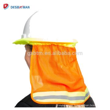 100% poliéster Mesh Fluo Amarillo Naranja 2 tonos de alta visibilidad Cuello Sombra con cinta reflectante Un tamaño para todos