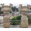 Jardim de mármore da pedra plantador da flor para a escultura ao ar livre (QFP249)
