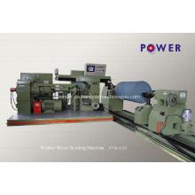 Máquina de recubrimiento de rodillos de goma para transmisión de minas