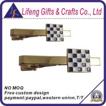 Custom Enamel Black and White Tie Bar