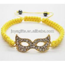 Aleación de ojos de oro con pulsera tejida diamante
