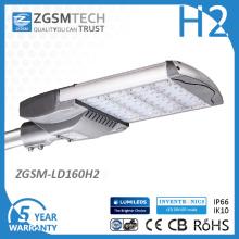 Aluminio anodizado luces de calle de 160 vatios LED IP66