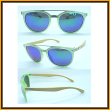 F15289 Classical Frame High Quality Metal Bridge Bamboo Arm Sunglasses