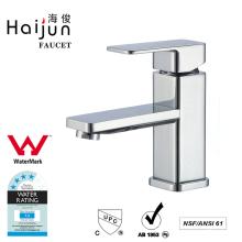 Haijun Fancy Watermark Thermostatic Polished Brass Bathroom Basin Faucets