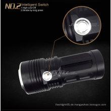 Regenschutz-Anti-Rutsch-LED-Fleshlight-Taschenlampe Gold-Taschenlampe