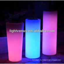 солнечная светодиодные цветок плантатор горшок ваза для цветов lightled lightColor изменяя свет СИД напольный цветочный горшок