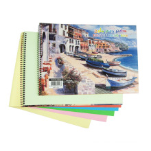 A4 Size Spiral Drawing Book Kids Custom Notebook School Memo Pad