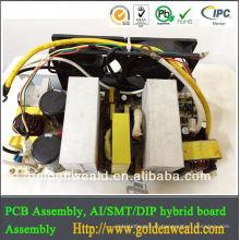 Machine d'assemblage de carte PCB SMT, PCB de contrôle de moteur DIP, fournisseur d'alimentation PCBA CS-60A