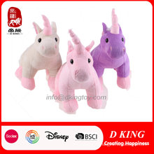 Tres colores Cute Plush Unicorn Toy