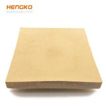 HENGKO Custom direct sales rectangular microns sintered bronze disc filter porous metal powder sintering filter plate