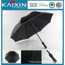 Pongee Fabric Black Coating Golf Umbrella with EVA Handle