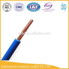 Cable aislado conductor de cobre hilo conductor aislado PVC 1.5 2.5 4 6 10 16 25 35 50