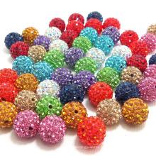 Mode Cristal Boule Bijoux Lâche Perles Résultats Cristal Disco Shamballa Perles