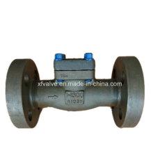 API602 1500lb 2500lb forjou a válvula de verificação da extremidade da flange do aço A105