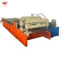 2020 new design glazed tile roofing making machine for Azerbaijan customer