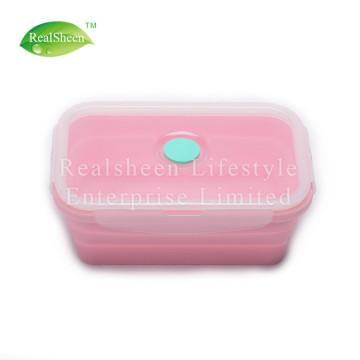 Boîte à lunch en silicone pour aliments pliable