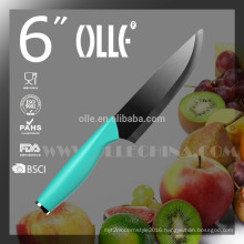 """6"""" Ceramic Paring Knife with Stainless Steel Endcap V3S blade"""