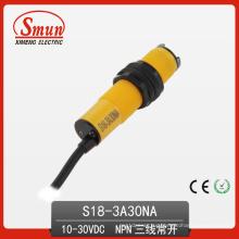 Sensor fotoeléctrico (S18-3A30NA) Sensor fotoeléctrico
