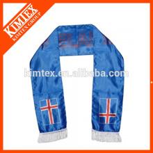 2014 OEM Großhandel doppelte Schichten Fußball-Fan Polyester Sport Schals