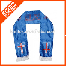 2014 OEM wholesale double layers football fan polyester sport scarves
