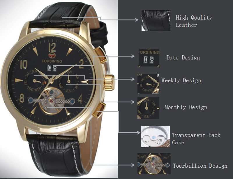 Mens Automatic movement your own brand watch