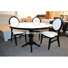 black and white wedding round tables and chairs XYN503
