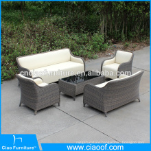 Special design outdoor PU leather furniture with PE wicker