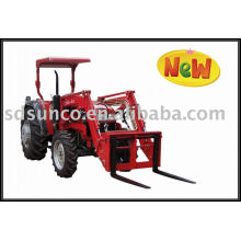 Tractor Loader with Pallet Fork