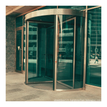 Customized luxury 4-wing automatic revolving door for hotel or mall
