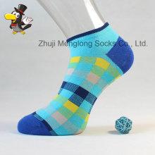 Klassisch-Karo-Muster Socken helle Farbe Frau Baumwollsocken aus hochwertiger Baumwolle gefertigt