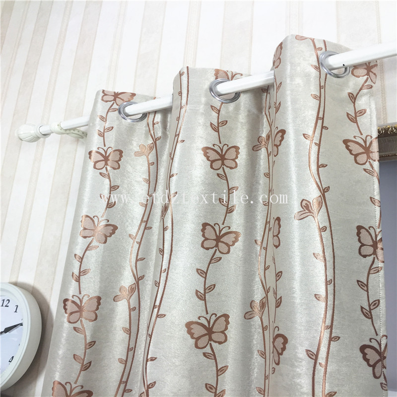 JACQUARD BUTTERFLY DESIGN CURTAIN