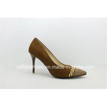 Elegant Stiletto Heel Leather Women Shoe for Sexy Ladies