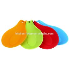 Utensílios de cozinha de silicone Titular Soup Spoon Holder