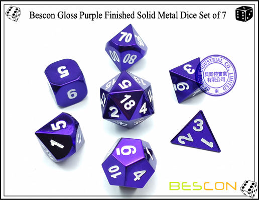 Metal Dice of Violet (1)