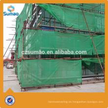 Red de seguridad popular del andamio del HDPE de la mejor calidad para la construcción con el anillo