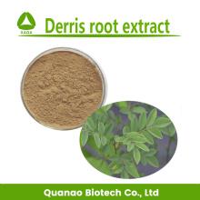 Polvo de extracto de raíz de Rotenone Derris 10: 1 Bio pesticidas